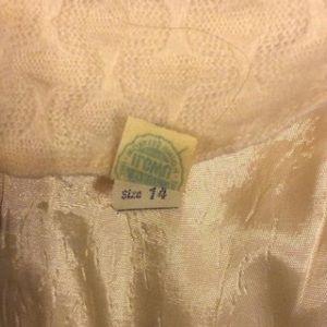 Vintage Dresses - Vintage Ivory Wool Wiggle Dress
